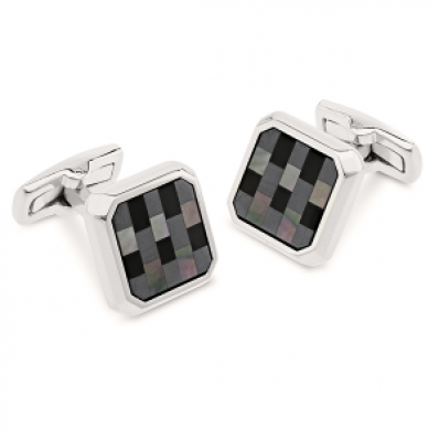 Duncan Walton Mother of Pearl & Onyx Cufflinks