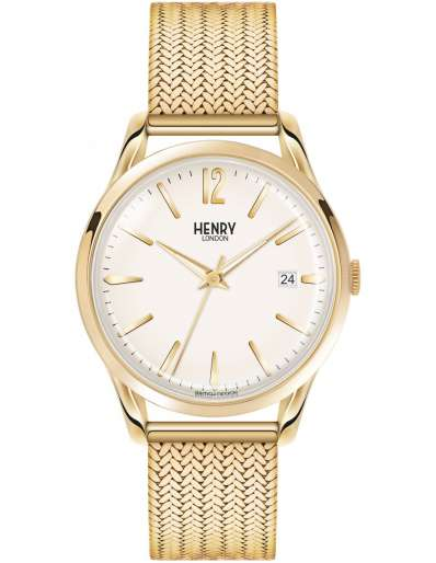 Henry London Yellow Gold Plated Watch