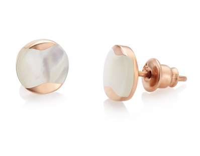 Jersey Pearl Dune Rose Gold Stud Pearls