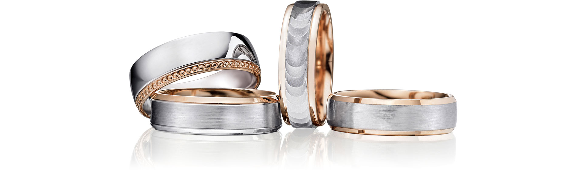 Two Colour Wedding Rings