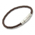 Unique Mens Dark Brown Leather Bracelet
