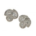 Hans D.Krieger 18CT White Gold and Diamond Multi Pear Cluster Earring