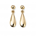 Elements Gold 9ct Yellow Gold Lariat Matching Tear Drop Earrings