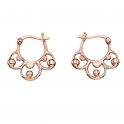 Elements Gold Baroque Creole Earrings