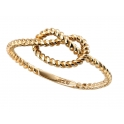 Elements Gold Yellow Gold Rope Knot Ring