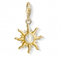 Thomas Sabo Charm Pendant Sun with Mother-of-Pearl Stone 1534-429-14