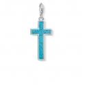 Thomas Sabo Charm Pendant Turquoise Cross Y0021-404-17