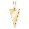 Thomas Sabo Sterling Silver Glam & Soul Triangle Necklace KE1541-413-12-L80