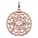 Thomas Sabo Sterling Silver Glam & Soul Pendant 'Pink Lotus small' PE690-536-9