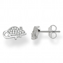 Thomas Sabo Sterling Silver Pave Mouse Stud Earrings H1872-051-14