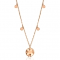 Ania Haie Ripple Drop Discs Necklace. Rose Gold Plated. N007-04R