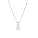 Swarovski Attract Trilogy Round Pendant. White Rhodium Plated