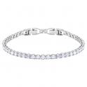 Swarovski Tennis Deluxe Round Crystal Set Bracelet. White Rhodium Plated 5409771