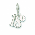 Thomas Sabo Silver Lucky Number 18 Clover Leaf Charm 0473-001-12