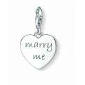 Thomas Sabo Silver 'MARRY ME' Heart Charm 1064-01-12