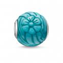 Thomas Sabo Karma Turquoise Sunflower Silver Bead K0023-589-17