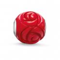 Thomas Sabo Red Rose Bamboo Coral Silver Bead K0038-590-10