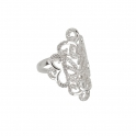 ​Vamp London Silver Hidden Mask Ring 3013