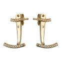 ​Vamp London Yellow Gold Plated Attitude Cuff Earrings ATE034-YG-C