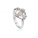 Clogau Silver & 9ct Rose Gold Topaz Origin Ring 3SENGTOL1