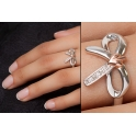 Clogau Sterling Silver & 9ct Rose Gold Tree of Life Bow Ring 3STOLBR