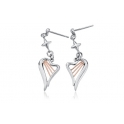 Clogau Silver & 9ct Rose Gold Heartstrings Earrings 3SHSE02
