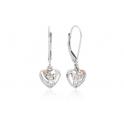 Clogau Silver & 9ct Rose Gold Diamond Eternal Love Earrings 3SCE010