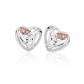 Clogau Silver & 9ct Rose Gold Diamond Eternal Love Stud Earrings 3SELE​
