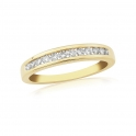9ct Yellow Gold Diamond Channel Set 0.25ct Ring DR115