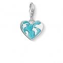 Thomas Sabo Charm Pendant Heart Globe 1429-007-17