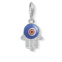 Thomas Sabo Charm Pendant Blue Glass hand of Fatima 1442-052-1