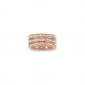 Thomas Sabo Silver Rose Gold Plated Tripple Row Ring TR1970-416-14