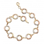 Elements Gold Triple Gold Russian Ring Style Bracelet