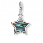 Thomas Sabo Charm Pendant Star Mother of Pearl Turquoise 1533-509-7