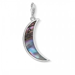Thomas Sabo Charm Pendant Moon Abalone Mother-of-Pearl Turquoise Y0007-509-7