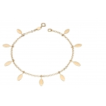 Elements Gold Yellow Gold Leaf Charms Bracelet