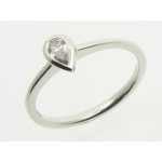 Platinum Pear Cut Diamond Ring JR20928