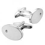 Gaventa Oval Crystal Cufflinks 11206