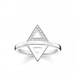 Thomas Sabo Sterling Silver Glam and Soul Triangle Ring D_TR0019-725-14-54