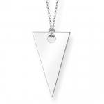 Thomas Sabo Sterling Silver Glam & Soul Triangle Necklace KE1541-001-12-L80