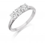 18ct White Gold 1.57ct Three Stone Trilogy Diamond Ring