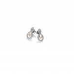 Hot Diamonds Harmony White Topaz Earrings - Rose Gold Plate Accents DE608