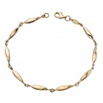 Yellow Gold Twisted Marquise Link Bracelet