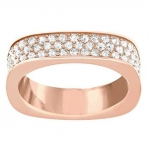 Swarovski Rose Gold Plated and White Crystal Vio Ring