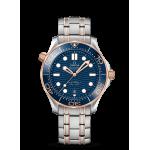 Omega Seamaster Diver 300M Blue Dial Steel & Sedna 42mm