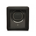 ​​​Wolf Est.1834 Cub Black Single Watch Winder with Cover 461103