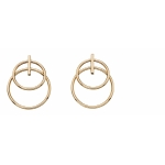 Elements 9ct Yellow Gold Double Circle Earring