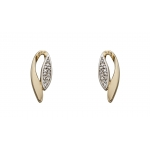 Elements 9ct Yellow Gold and Diamond Marquise Earring