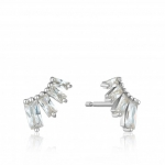 Ania Haie Crystal Glow Bar Stud Earrings. Silver Rhodium Plated  E018-04H