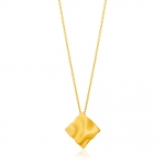 Ania Haie Crush Square Necklace. Yellow Gold Plated  N017-03G